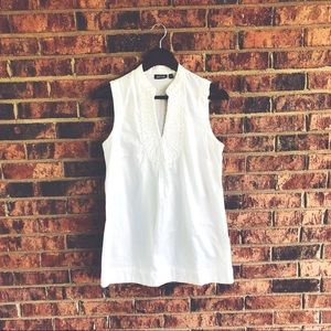 { APT 9 } White Tunic Top